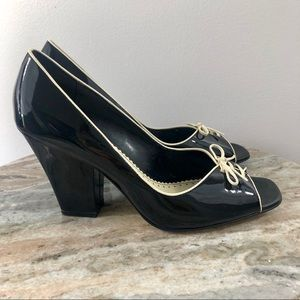 Franco Sarto Heels size 9 Gabriel Black Patent